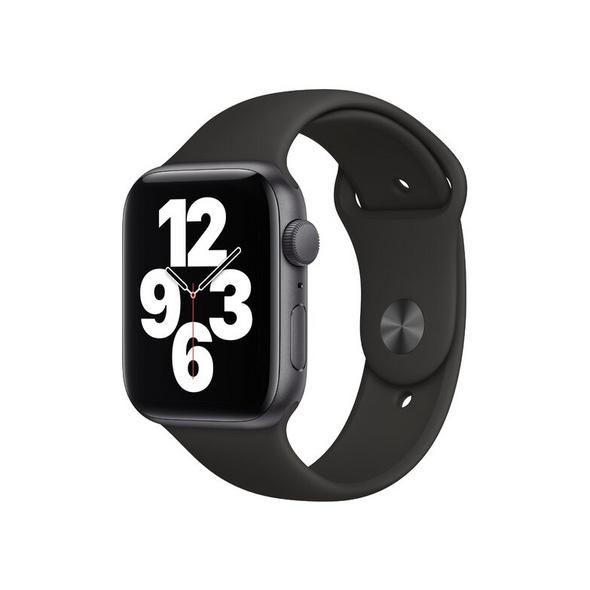 Apple Watch SE, 44 mm, Aluminium space grau, Sportarmband mitternacht