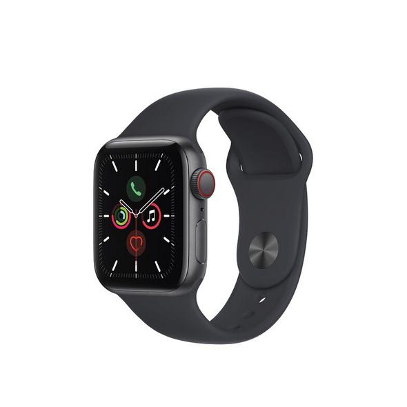 Apple Watch SE, GPS & Cellular, 40 mm, Alu. space grau, Sportb. mitternacht