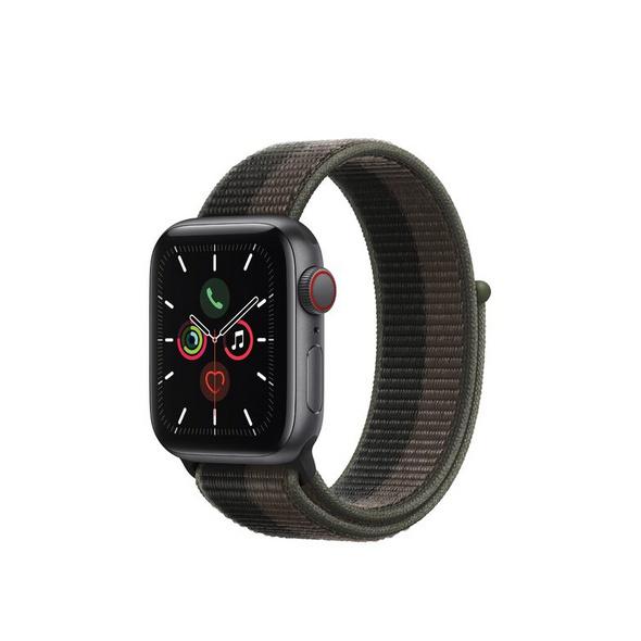 Apple Watch SE, GPS & Cellular, 40 mm, Alu. space grau, Sportloop tornado/grau