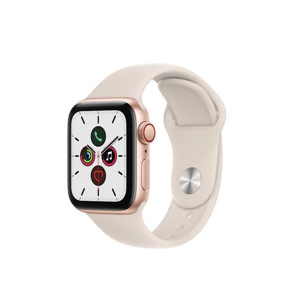 Apple Watch SE, GPS & Cellular, 40 mm, Aluminium gold, Sportarmband polarstern