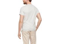 Slim: Meliertes V-Neck-Shirt - T-Shirt