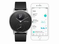 Withings Steel HR, Smartwatch und Fitnesstracker, 36 mm, schwarz