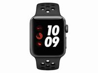 Apple Watch Nike 3+, GPS & Cell. 38 mm Alu. space grau, Sportarmband anthr/blk