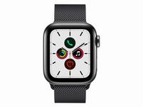 Apple Watch Series 5, GPS & Cellular, 40mm, Edels. schwarz, Milanaise schwarz