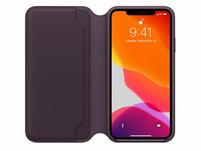 Apple Leder Folio Case, für iPhone 11 Pro Max, aubergine