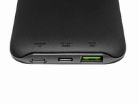 Networx Wireless Charging Powerbank, 10.000 mAh, USB-C/Lighting, schwarz