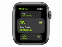 Apple Watch SE, GPS & Cellular, 40mm, Alu. space grau, Sportarmband schwarz