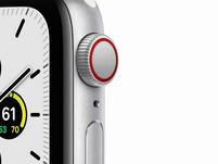 Apple Watch SE, GPS & Cellular, 40 mm, Aluminium silber, Sportarmband weiß