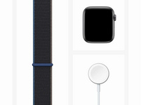 Apple Watch SE, GPS & Cellular, 44 mm, Aluminium space grau, Sport Loop grau