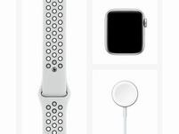 Apple Watch Nike Series 6, 40 mm, Aluminum silber, Sportarmband platinum/schw.
