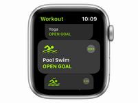 Apple Watch SE, GPS & Cellular, 44mm, Aluminium silber, Sport Loop dunkelmarine