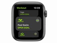 Apple Watch SE, GPS & Cellular, 44mm, Alu. space grau, Sportarmband schwarz