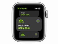 Apple Watch SE, 40 mm, Aluminium silber, Sportarmband weiß