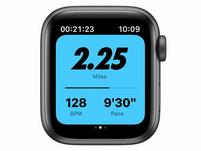 Apple Watch Nike SE, GPS & Cellular, 40mm, Alu. space grau, Sportb. anth/schw.