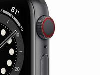 Apple Watch Series 6, Cellular, 44 mm, Aluminum space grau, Sportarmband schw.