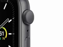 Apple Watch SE, 44 mm, Aluminium space grau, Sportarmband schwarz