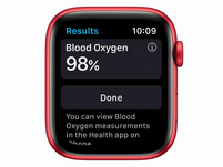 Apple Watch Series 6, Cellular, 44 mm, Aluminum rot, Sportarmband (PRODUCT)RED