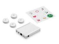 Flic Smart Button Starter Kit, 4x Flic 2 + Flic Hub LR, für Apple HomeKit, weiß