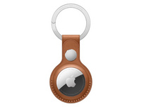 Apple AirTag Schlüsselanhänger, aus Leder, sattelbraun