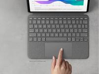 """Logitech Combo Touch, Tastatur-Case mit Trackpad f. iPad 11"""", QWERTZ, grau"""