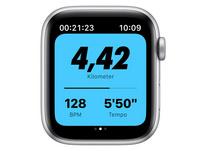 Apple Watch Nike SE, 44 mm, Alu. silber, Sportarmband platinum/schwarz