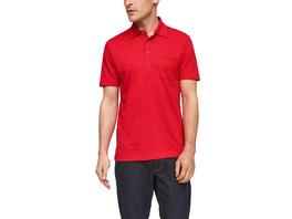 Poloshirt aus Flammgarnjersey - Poloshirt