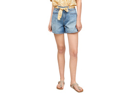 Regular Fit: Shorts mit weitem Bein - Jeansshorts