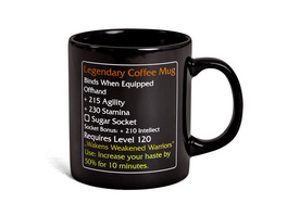Legendary Coffee Mug - MMO Item Fan Tasse Level 120