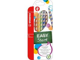 Ergonomischer Buntstift für Rechtshänder - STABILO EASYcolors - 6er Pack - mit 6 verschiedenen Farben