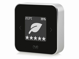 Eve Room, kabelloser Raumklimasensor für iPhone/iPad, Bluetooth, schwarz