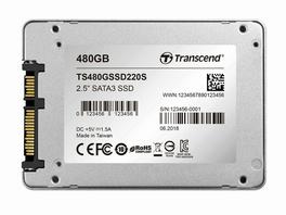Transcend SSD220S, int. 480 GB SSD 6,35 cm, SATA III