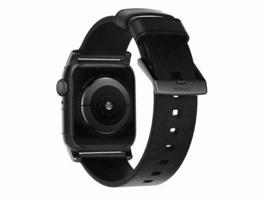 Nomad Modern Strap, Armband für Apple Watch 42/44 mm, Leder, schwarz