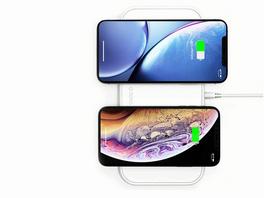 ZENS Aluminium Dual Wireless Charger, Ladestation für Qi-fähige Geräte, weiß