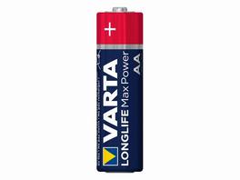 Varta Longlife Max Power, 1,5 Volt AA Batterie, Alkali Mangan