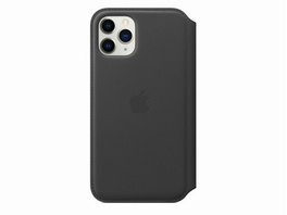 Apple Leder Folio Case, für iPhone 11 Pro, schwarz