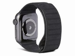 Decoded Traction Strap, Leder-Armband für Apple Watch 38/40 mm, schwarz