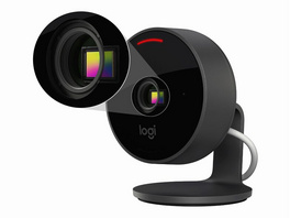 Logitech Circle View, Full-HD-Sicherheitskamera, HomeKit, graphite