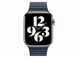 Apple Loop Lederarmband, mit Schlaufe, für Apple Watch 44mm Gr. L , taucherblau