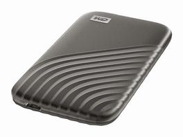 WD My Passport SSD, 500 GB, USB-C/USB 3.2, NVMe-Technologie, grau