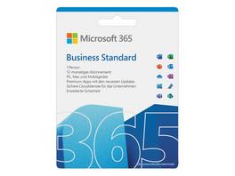 Microsoft Office 365 Business 2021, 1-Jahres-Software-Lizenz, Key Card