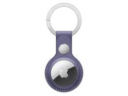 Apple AirTag Schlüsselanhänger, aus Leder, wisteria