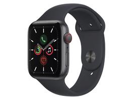 Apple Watch SE, GPS & Cellular, 44 mm, Alu. space grau, Sportb. mitternacht